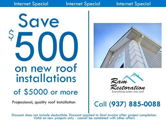 Save $500 on roof installation jobs for a limited time